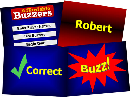 Affordable Buzzers game show and quiz game lock-out buzzers