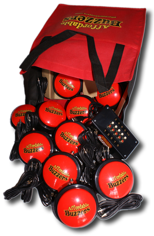 Affordable Buzzers 10 Team Table-Top Quiz Game Buzzer System