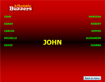 Affordable Buzzers Quiz Game Software Names Display Screen