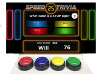 Affordable Buzzers game show and quiz game lock-out buzzers and